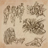 Jamaica Travel - An hand drawn vector pack. Travel: JAMAICA (set no.2) - Collection of an hand drawn vector illustrations. Each drawing comprise three layers of Stock Image