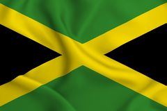 Jamaica flag illustration vector illustration