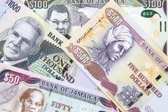 Jamaicaans geld, een achtergrond royalty-vrije stock afbeelding