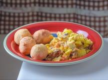 Jamaicaans ontbijt Stock Foto