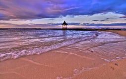 Jamaicaanse zonsondergang over Gazebo (HDR) Royalty-vrije Stock Afbeelding