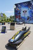 Jamaican Bobsleigh Team bob used during XV Winter Olympic Games located at Canada Olympic Park Stock Photography