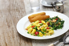 Jamaican breakfast Royalty Free Stock Photo