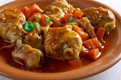 Jamaican Brown Stew Chicken Stock Photo