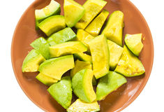 Jamaican or Caribbean Avocado pieces salad served in plate Stock Image