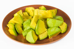 Jamaican or Caribbean Avocado pieces salad served in plate Royalty Free Stock Image