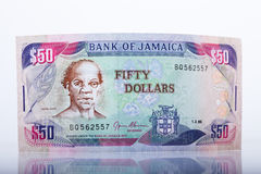 Jamaican currency, 50 Dollar Banknote Royalty Free Stock Images