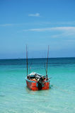 Jamaican fishing boat. A colorful fishing boat in Jamaica royalty free stock photography