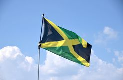 Jamaican Flag. A Jamaican flag blowing in the wind royalty free stock images