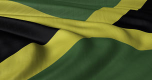Jamaican flag. Fluttering in light breeze Royalty Free Stock Photography