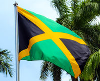 Jamaican Flag. In Montego Bay stock images