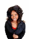 Jamaican girl in jacket. Stock Photo