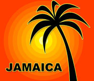 Jamaican Holiday Indicates Go On Leave And Summer Stock Image