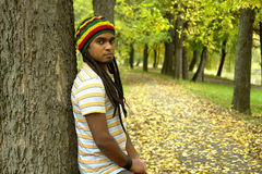 Jamaican In Park Royalty Free Stock Photo