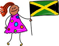 Jamaican kid Stock Images