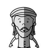 jamaican man character icon Stock Photo
