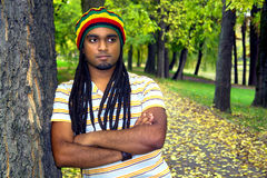 Jamaican in park Stock Photography
