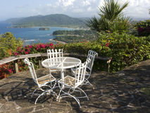 Jamaican Patio Royalty Free Stock Photos