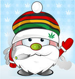Jamaican Santa Claus cartoon Stock Photos