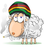 Jamaican sheep cartoon Stock Image