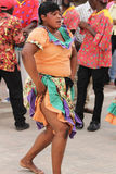 Jamaican Street Performer. FALMOUTH, JAMAICA, MAY 11: An unidentified street performer dancing outside the port of Falmouth on MAY 11, 2011 in Jamaica ahead of Stock Image