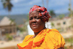 Jamaican street vendor woman Royalty Free Stock Photos