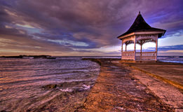 Jamaican sunset over Gazebo (HDR) Royalty Free Stock Photos