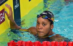 Jamaican swimmer and olympian Alia Atkinson Royalty Free Stock Photography