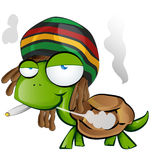 Jamaican tortoise cartoon Royalty Free Stock Photo