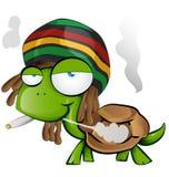 Jamaican tortoise cartoon Royalty Free Stock Photo