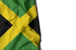 jamaican wrinkled flag, space for text Royalty Free Stock Photos