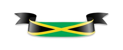 Jamaika-Flagge in Form von Wellenband Vektor Abbildung