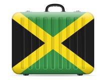 Jamaika-Flaggenreisekoffer lizenzfreie abbildung