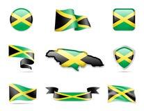 Jamaika kennzeichnet Sammlung Vektor Abbildung