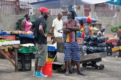 JAMAIKA-LEUTE Stockfoto