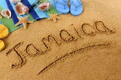 Jamaika-Strandschreiben Lizenzfreies Stockbild
