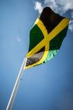 Jamaikanische JAMAIKA-Markierungsfahne Stockbild