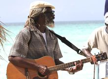 Jamaikanischer Musiker Stockfotografie