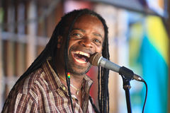 Jamaikanischer Sänger Lizenzfreies Stockfoto
