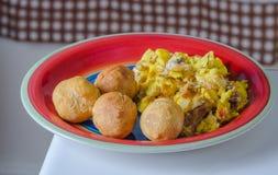 Jamaikansk frukost Arkivbilder
