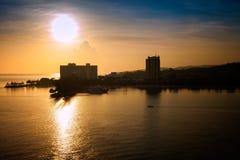 Jamaikansk soluppgång Arkivbilder