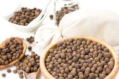 Jamaikapfeffer-Samen-Haufen Lizenzfreie Stockbilder