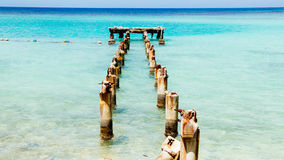 Jamajka błękit Dokuje 1 Obraz Royalty Free