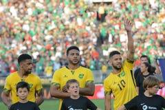 Jamajka drużyna narodowa. gracze podczas Copa Ameryka Centenario Obrazy Royalty Free