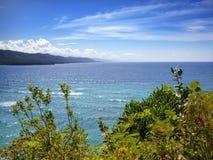 Jamajka dzień Jamaica krajobrazowy gór morze pogodny Zdjęcia Stock