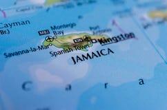 Jamajka na mapie Obraz Stock