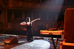 Jamala на сольном концерте на оперном театре Львова Стоковые Изображения RF