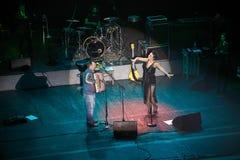 Jamala с концертом отца на оперном театре Львова Стоковые Фото