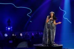 Jamala de Ucrania la Eurovisión 2017 fotos de archivo libres de regalías
