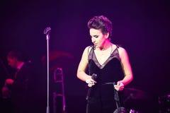 Jamala en el concierto a solas en el teatro de la ópera de Lviv fotografía de archivo libre de regalías